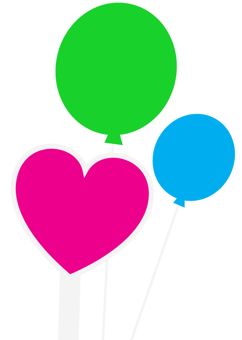 Corridor Celebrations balloons hearts and stars | corridorcelebrations.com