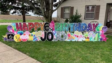 birthday yard sign near me